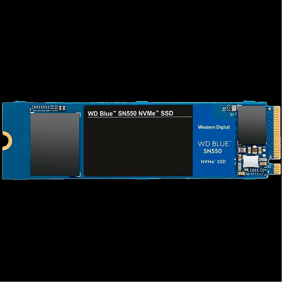 SSD WD Blue SN550, 1TB, M.2, PCIe, NVMe, Leituras: 2400Mb/s e Gravações: 1950Mb/s - WDS100T2B0C