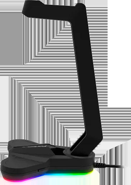 Suporte p/ Headset RGB VICKERS Preto FORTREK G