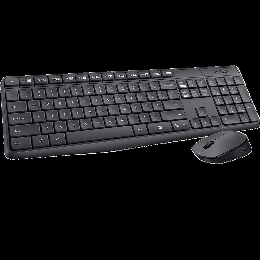 Teclado e Mouse Logitech Sem Fio MK235 - 920-007897