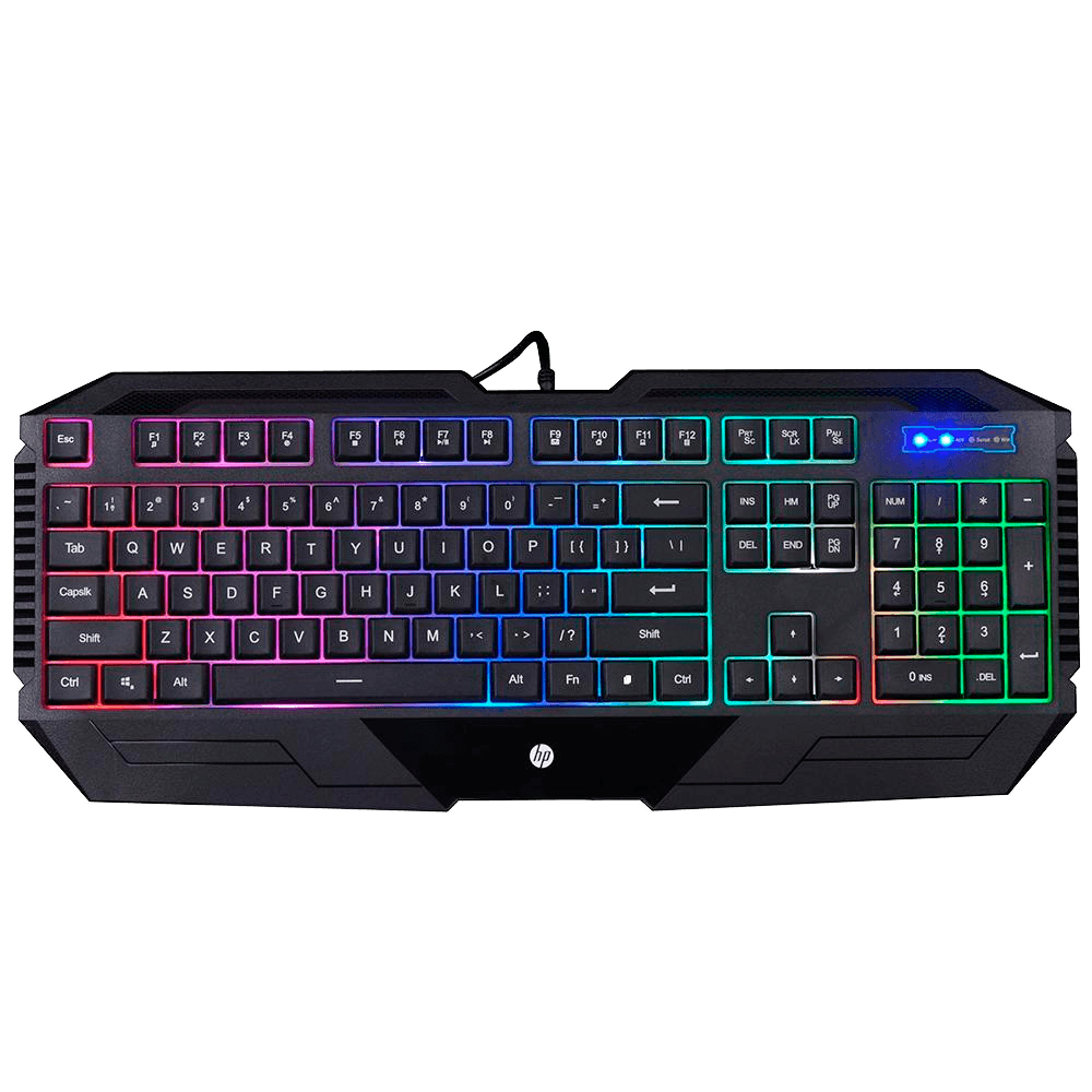 Teclado Gamer HP, LED, ABNT2 - K110