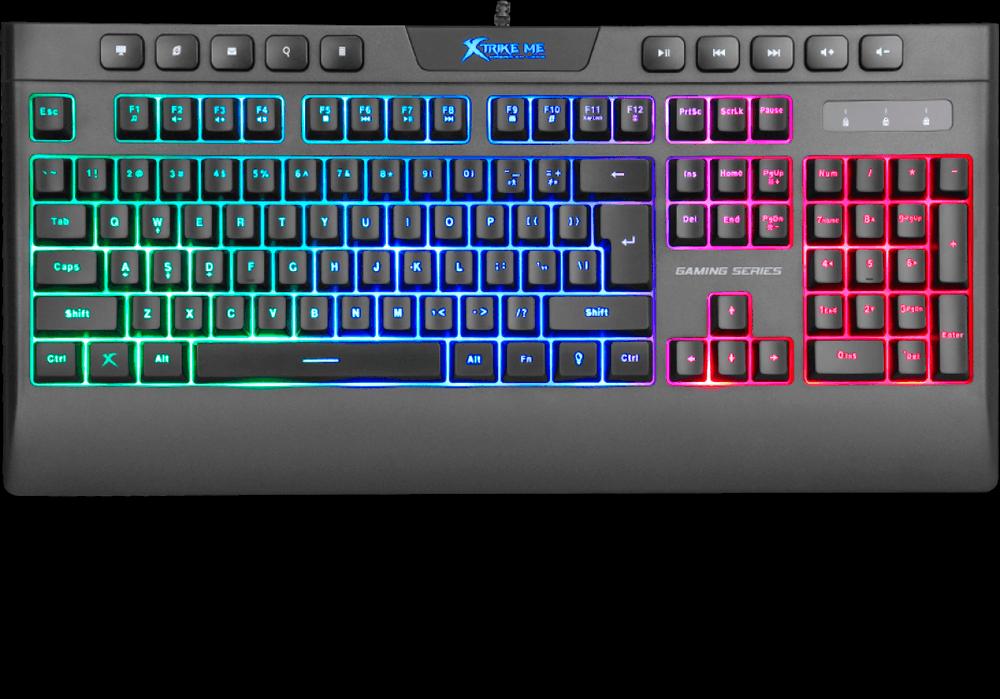 Teclado Gamer Xtrike-Me KB-508, Membrana, Rainbow