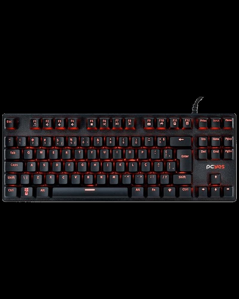 Teclado Mecânico Gamer PCYes, Switch Blue, KL7 RGB