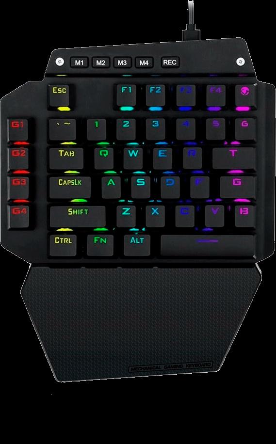 Teclado Mecânico Gamer Redragon IDA Single Hand RGB Chroma Switch Outemu Blue MK II - K583 RGB