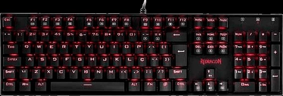 Teclado Mecanico Gamer Redragon Mitra Preto Com Switch Azul Padrao ABNT-2 - K551