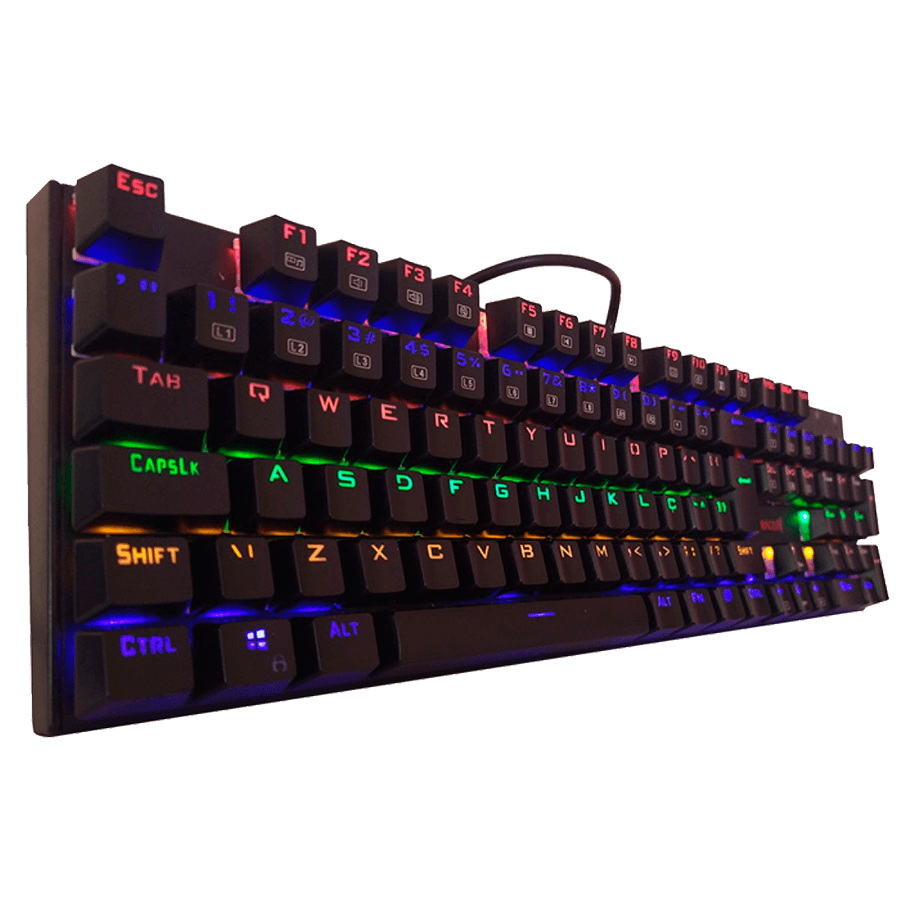 Teclado Mecânico Gamer Redragon Rudra K565r-1, Switch Outemu Blue, Black