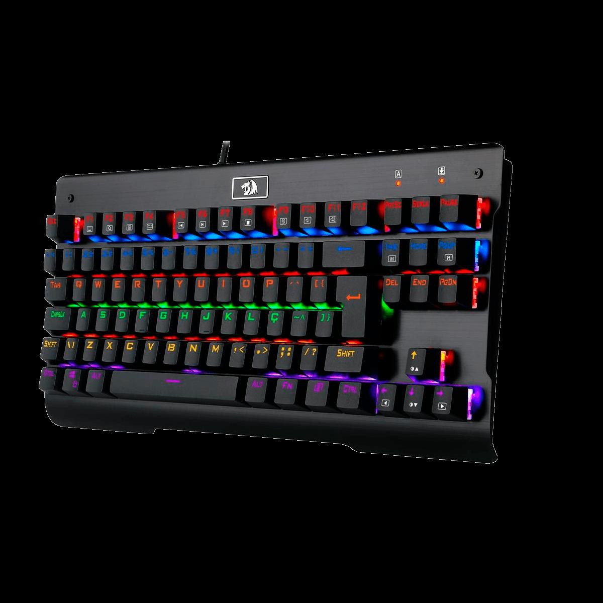 Teclado Mecânico Gamer Redragon Visnu, Switch Outemu Blue, Anti-Ghosting, Preto, ABNT2 - K561R-2 (PT-BLUE)