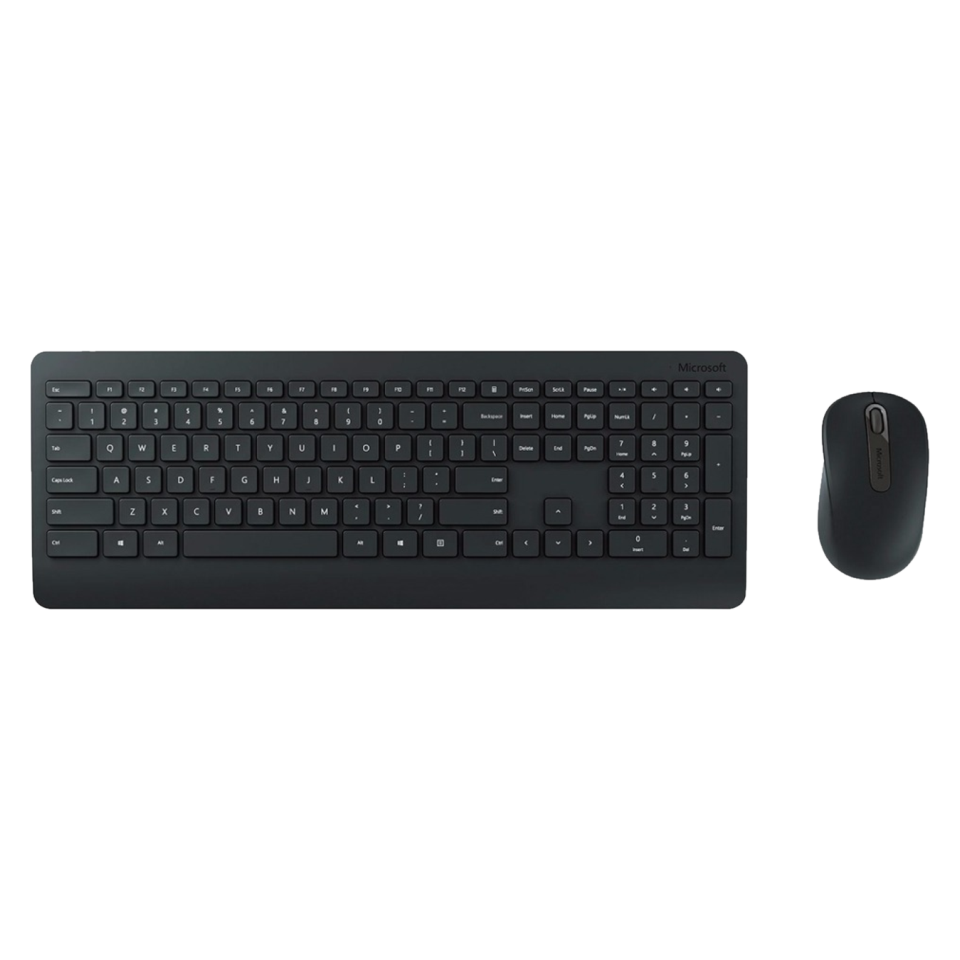 Teclado Microsoft Multimídia + Mouse Basic Óptico Wireless Desktop 900 Black - PT3-00005