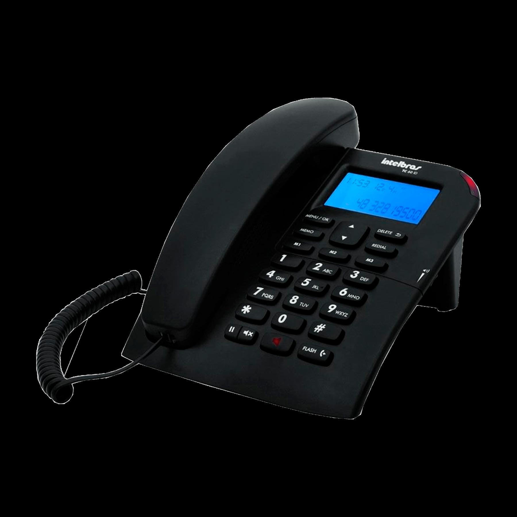 Telefone Intelbras com Fio - TC60ID Preto