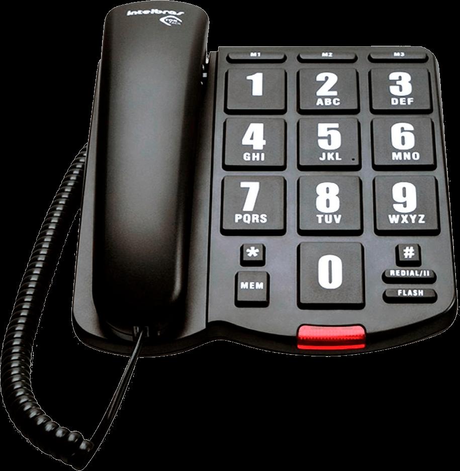 Telefone Intelbras Com Fio Tok Fácil - 4000034
