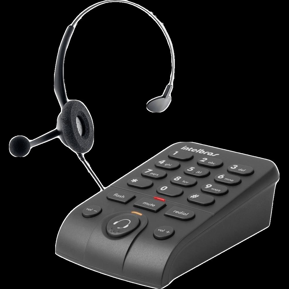 Telefone Intelbras Headset com Base Discadora - HSB50