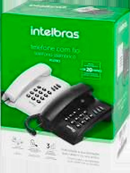 Telefone Intelbras Pleno com Fio s/ Chave de Bloqueio Preto - 4080051
