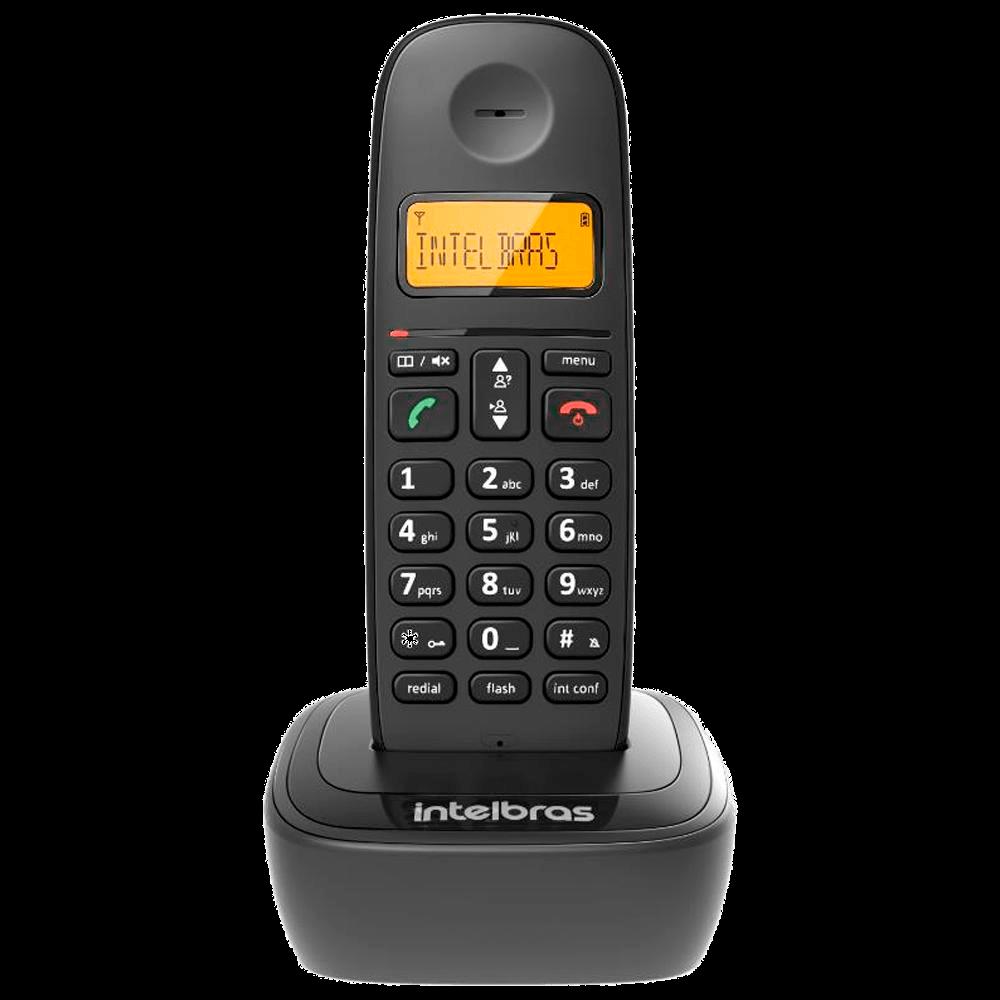 Telefone Sem Fio Intelbras TS 2510, Identificador de Chamadas, Preto - 4122510