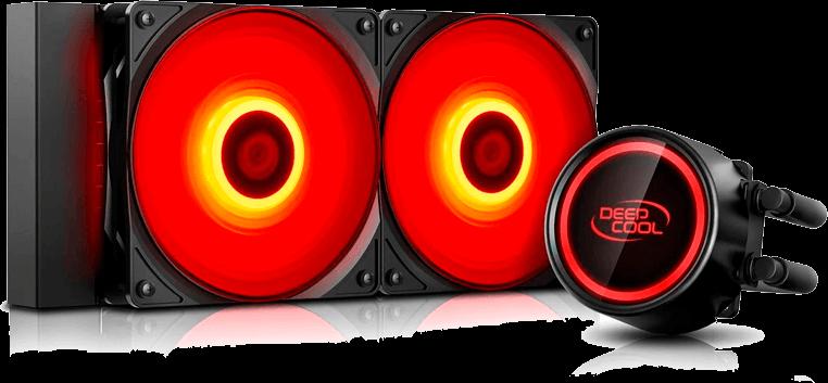 Watercooler DeepCool Gammaxx L240T Red 240mm LED Vermelho Selado Anti-Vazamentos - DP-H12RF-GL240TR