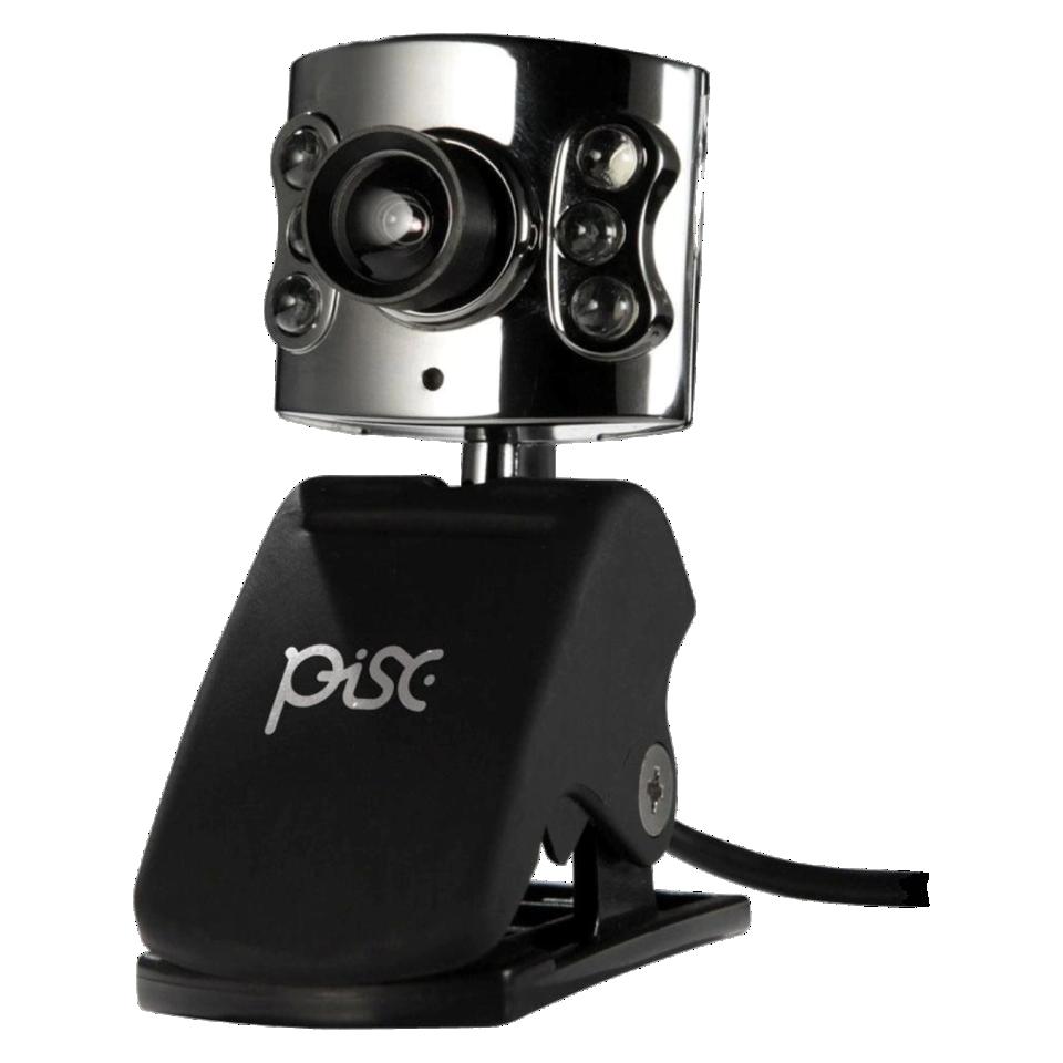 Webcam Luz Led Visão Noturna+microfone - PISC-1819
