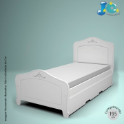 CAMA DE SOLTEIRO NANTES com cama reserva