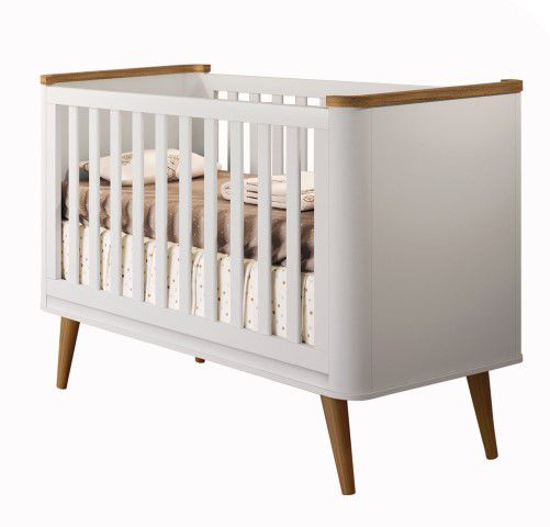 Berço de Bebê Confort 3 em 1 com Pés de Madeira  Puppi Mobile