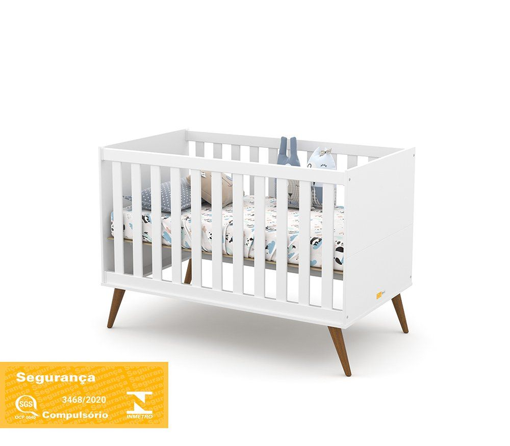 Berço de Bebê Gold Eco Wood Matic