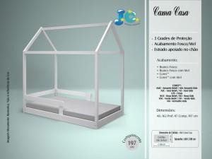 CAMA CASA DE SOLTEIRO