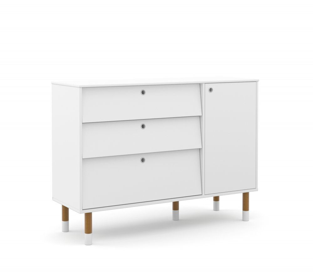 Cômoda de Bebê com 1 porta e 3 Gavetas Up Eco Wood Matic