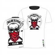 Camisa Camiseta Fighting Club - Caveira - Branca
