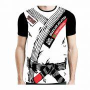 Camisa Camiseta Jiu Jitsu - Black Belt - Branca