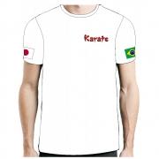 Camisa Camiseta Karate Yoko Geri - Fb-2066 - Branca