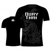 Camisa Camiseta Muay Thai Dragão Oriental - Preta