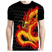 Camisa Camiseta Muay Thai Dragon - Fb-2060 - Preta