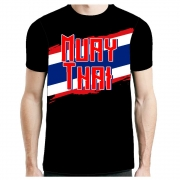 Camisa Camiseta Muay Thai Flag - Fb-2070 - Preta