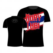 Camisa Camiseta Muay Thai Flag - Preta