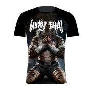 Camisa Camiseta Muay Thai Tiger Man - Preta