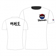 Camisa Camiseta Taekwondo Hangul - Branca