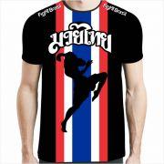 Camisa Camiseta Tailândia Nak Muay - Brasil - Preta