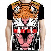 Camisa Camiseta Muay Thai - Tiger Elite II - Preta