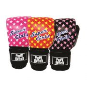 Luvas de Kick Boxe Muay Thai - Infantil - Super Girls - 04 Oz