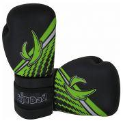 Luvas de Kick Boxe Muay Thai Injetada - Athrox - Verde - Par