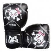 Luvas de Kick Boxe Muay Thai - Killer Girl - Preta