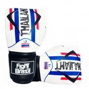 Luvas Kick Boxe Muay Thai - Thailand Branca - 12 Oz