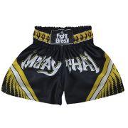 Short Calção Muay Thai - Athrox - Pre/Amar