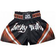 Short Calção Muay Thai - Athrox - Pre/Lar