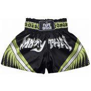 Short Calção Muay Thai - Athrox - Pre/Verde