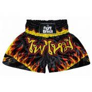 Short Calção Muay Thai - Fenix - Fogo - Unid