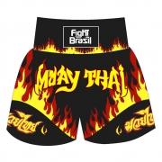 Short Calção Muay Thai Flames - Fb-1815 - Unid