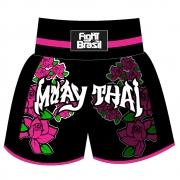 Short Calção Muay Thai - Flower Girl - Fb-1847