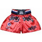 Short Calção Muay Thai Kids - Infantil - Vermelho