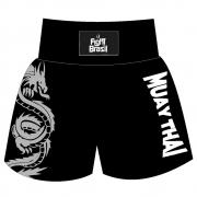 Short Calção Muay Thai - Silver Dragon - Unid