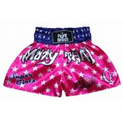 Short Calção Muay Thai Super Girls - Infantil - Rosa