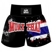 Short Calção Muay Thai Thailand Flag - Fb-3023