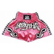 Short Calção Muay Thai - Tribal - Rosa - Unid