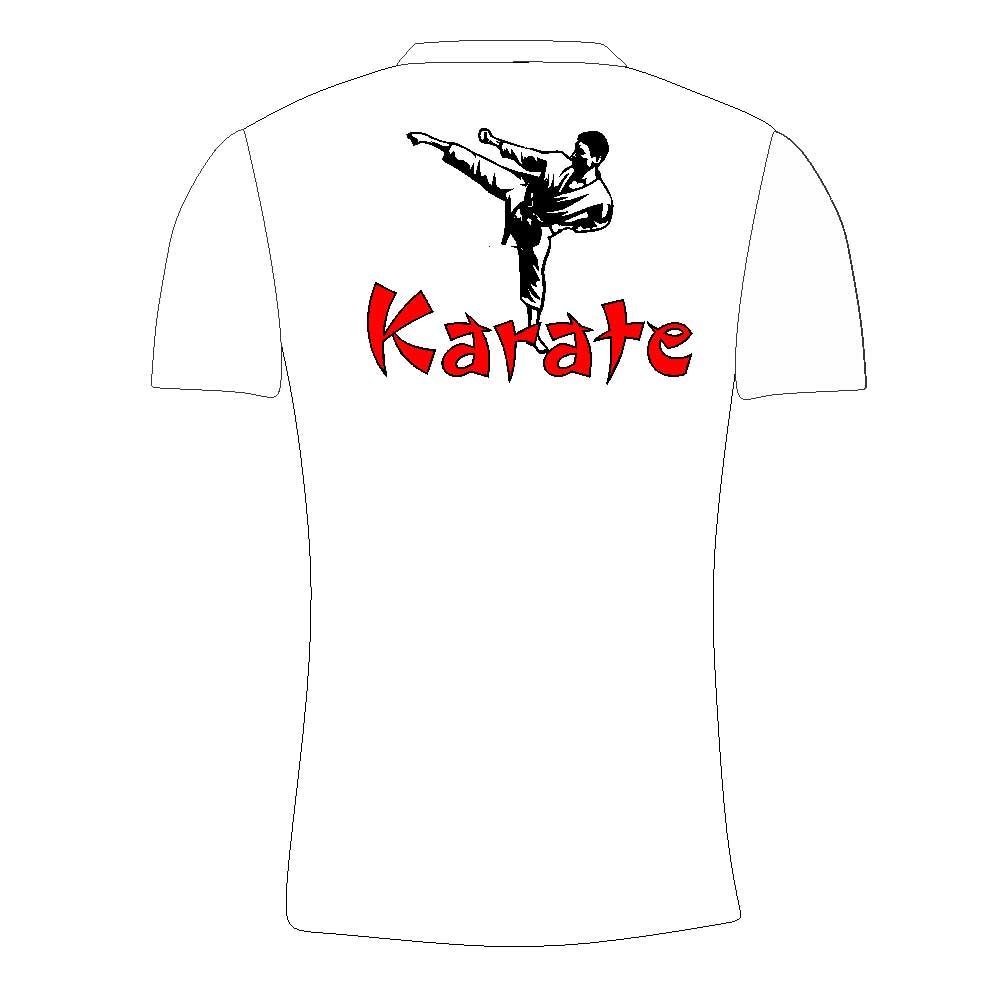Camisa Camiseta Karate Yoko Geri - Branca